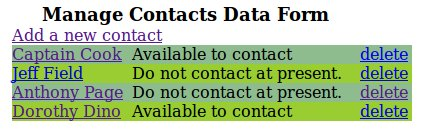 Contact Management Main Form