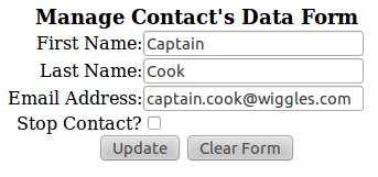 Contact Management Edit Form