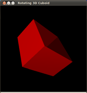 Rotating a 3D Cuboid in OpenGL
