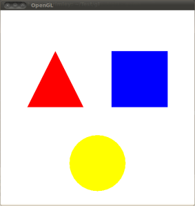 OpenGL template: scene 1 (Basic Shapes)